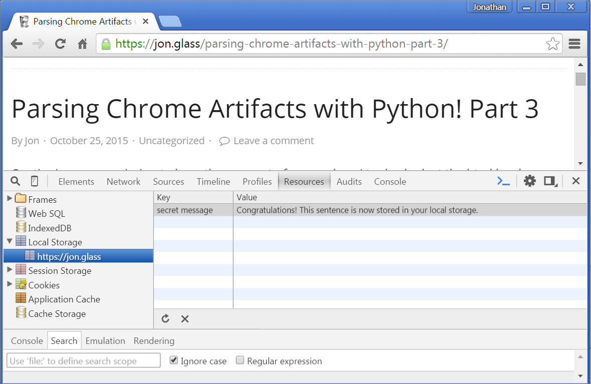 Parsing Chrome Artifacts with Python! Part 3 – Half Full of