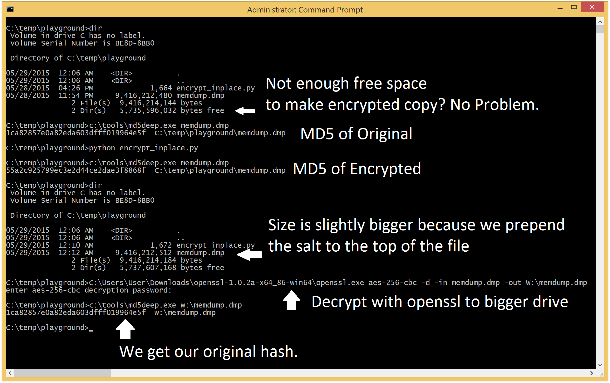 Use Python to Encrypt Memory Files – Half Full of Security