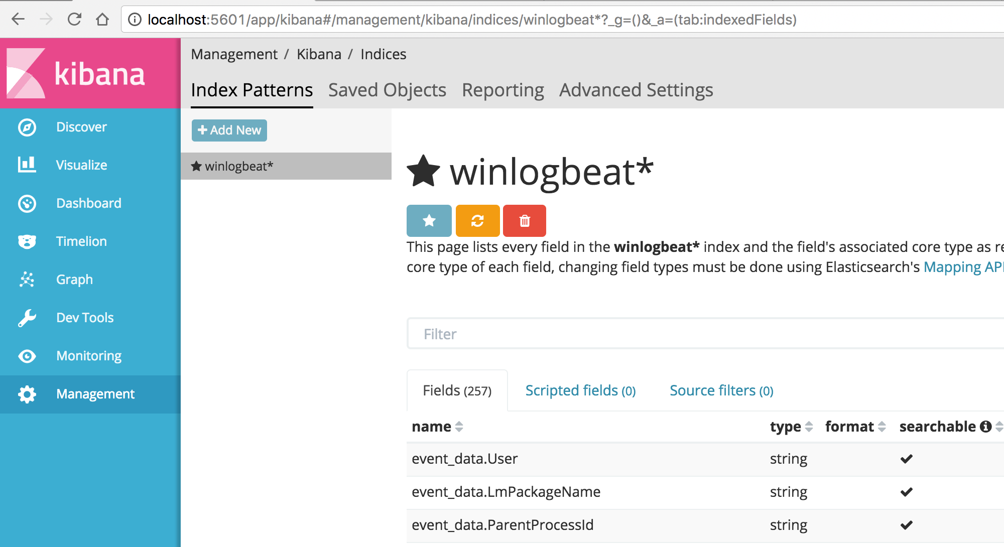 WinLogBeat Files